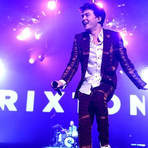 Rixton performing on Ariana Grande honeymoon tour