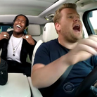 A$AP Rocky James Corden Rod Stewart