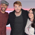 Marvin Humes Kat Shoob James Arthur Big Top 40