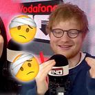 Ed Sheeran Big Top 40 Studio injury story